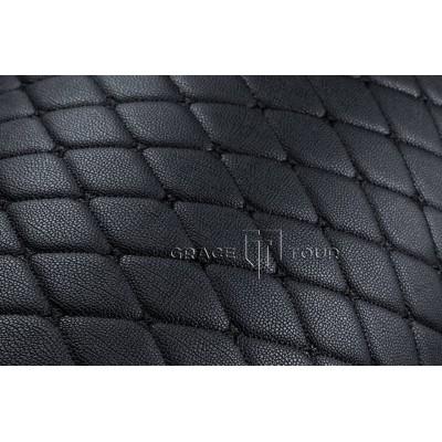 Автомобильный коврик в багажник 3D Премиум черный с черной строчкой