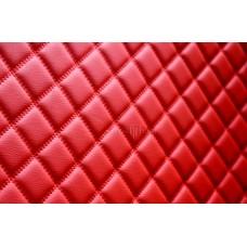 Автомобильный коврик в багажник 2D Люкс красный