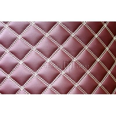 Автомобильный коврик в багажник 2D Люкс бордовый