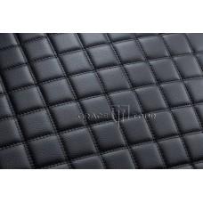 Автомобильный коврик в багажник 2D Люкс черный с черной строчкой