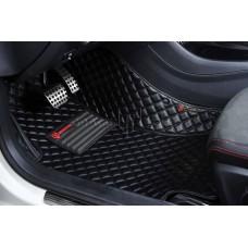 Автоковрик Люкс 3D чёрный с чёрной строчкой