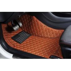 Автоковрик Премиум 3D светло-коричневый с бежевой строчкой