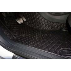 Автоковрик Премиум 3D чёрный с чёрной строчкой