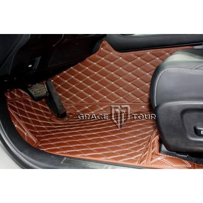 Автоковрик Престиж 3D светло-коричневый с бежевой строчкой