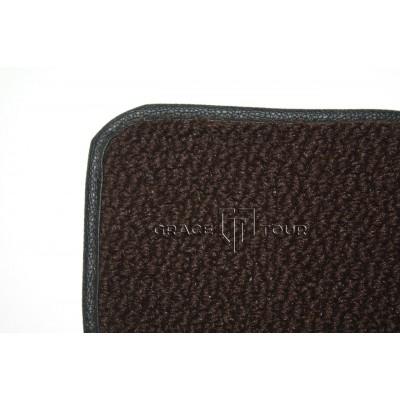 Дополнительный ворс текстильный коричневый объемный