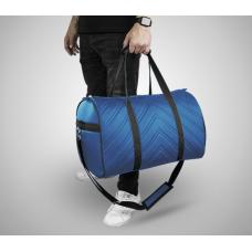 Дорожная сумка из экокожи Полосы синий+черный