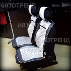 Накидки на сиденья 3D Barselona серый+черный
