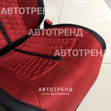 Накидки на сиденья 3D Stalker Красный+Черный