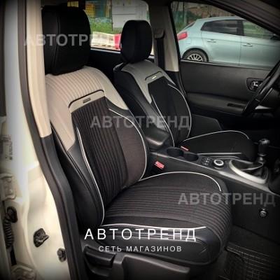 Накидки на сиденья 3D Arsenal серый+черный