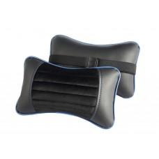 Подушка под шею Черный/Черный/Синий