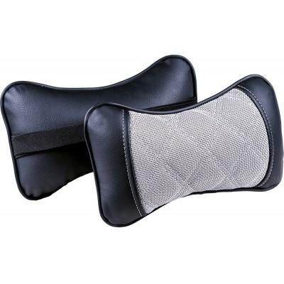 Подушка под шею Ромб серый/черный/серый