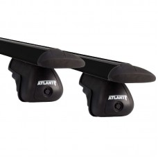 Багажник на КРЫШУ АВТОМОБИЛЯ С РЕЙЛИНГАМИ/ крыловидные дуги BLACK - нагрузка до 100 кг