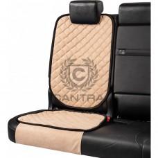 Накидка под детское кресло CANTRA / Бежевый с черным кантом