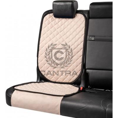Накидка под детское кресло CANTRA / Белый с черным кантом
