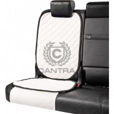 Накидка под детское кресло CANTRA / Белоснежный с черным кантом