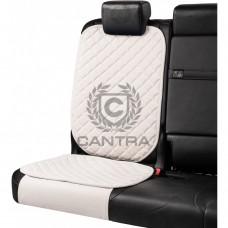 Накидка под детское кресло CANTRA / Белоснежный с белым кантом