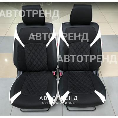 Накидки на сиденья 3D STING белый+черный