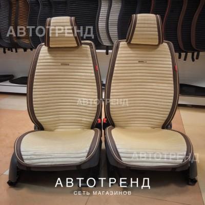 Накидки на сиденье MONACO бежевый/коричневый