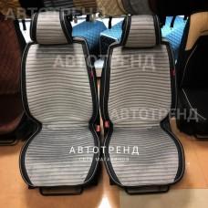 Накидки на сиденье Премиум АВТОТРЕНД серый/черный/весь салон