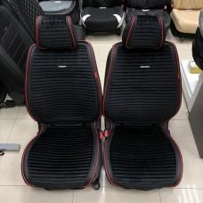 Накидки на сиденье MONACO черный/красный