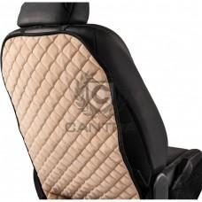 Защитная накидка на спинку сиденья CANTRA / KICK ПРОТЕКТОР Бежевый с черным кантом