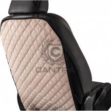 Защитная накидка на спинку сиденья CANTRA / KICK ПРОТЕКТОР Белый с черным кантом