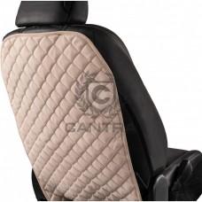 Защитная накидка на спинку сиденья CANTRA / KICK ПРОТЕКТОР Белый с белым кантом