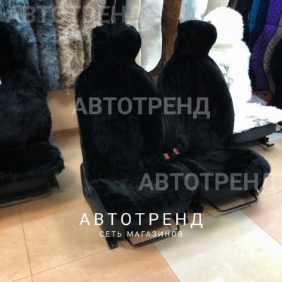 Накидки из овечьей шерсти (Черный) /Антискользящие