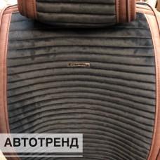 Накидки на сиденье Премиум АВТОТРЕНД черный/коричневый (весь салон)