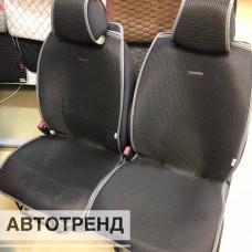 Накидки на сиденья АВТОТРЕНД черный/т.серый