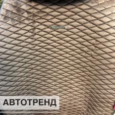 Накидки на сиденья Ромбик АВТОТРЕНД кофе (весь салон)
