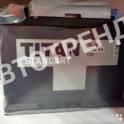 Аккумулятор автомобильный Titan Standаrt 55 Ач Прямая полярность