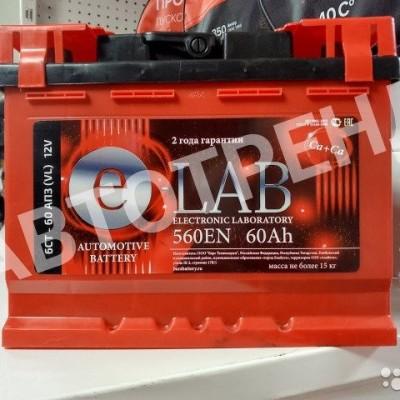 Аккумулятор автомобильный ELAB 6СТ-60 обратная полярность