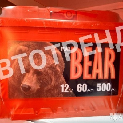 Аккумулятор автомобильный Медведь BatBEAR Ca+ 60 Ач