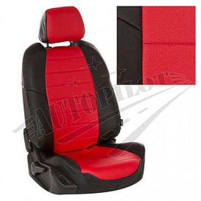 Чехлы на сиденья из матовой экокожи АВТОПИЛОТ (Чёрный + Красный)