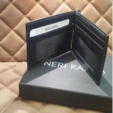 Портмоне мужское NERI KARRA (нат.кожа) черный