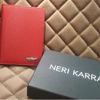 Обложка для автодокументов Neri Karra ( нат.кожа ) алый-красный